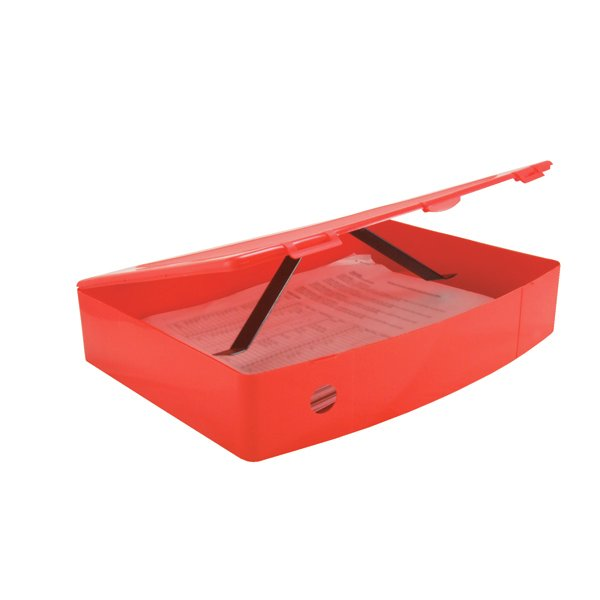 Box File Polyprop Red -((V))