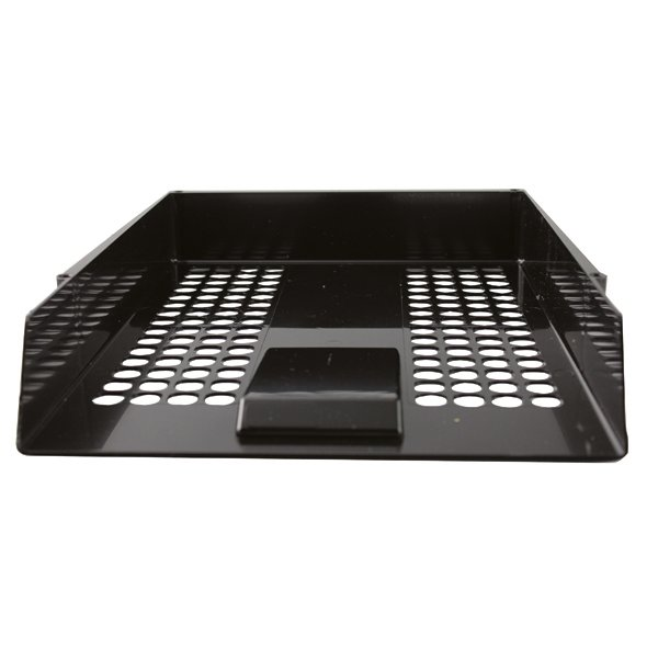 Standard Entry Letter Tray Black