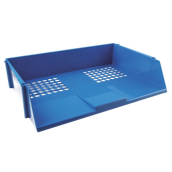 Wide Entry Letter Tray Blue