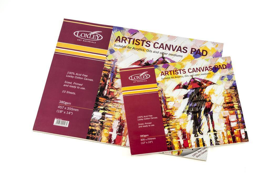 LOXLEY Canvas Pads - 10 Sheets 360 grm - 18 x 14