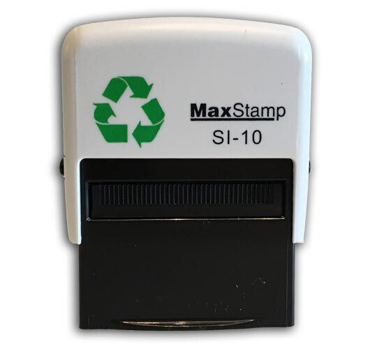 Recycled Custom Made Self Inking Stamp 36 X 13mm