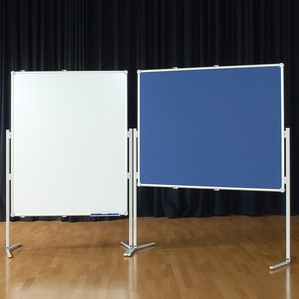Multi-Board Mobile Display System 1500 x 1200 Blue Fabric/Whiteboard