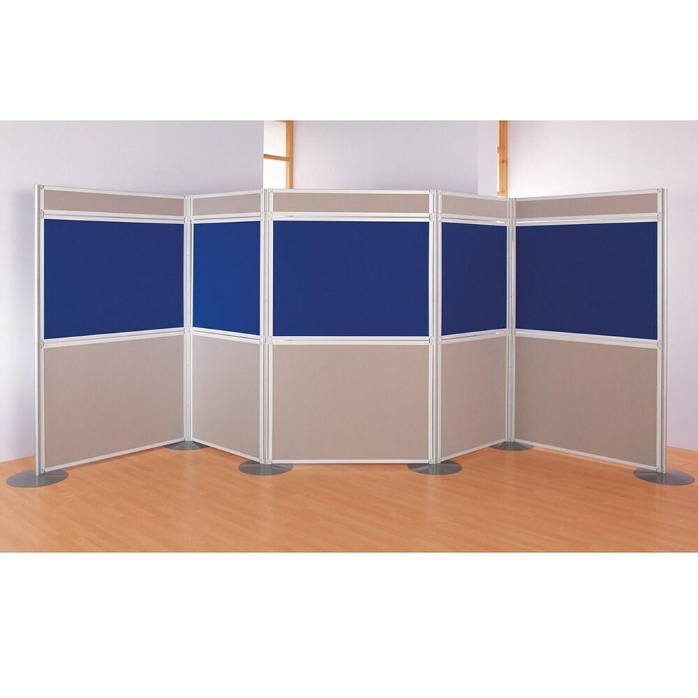 Mightyboard Exhibitor Kit E 2000 X 5400 10 Panels & 5 Headers Royal Blue