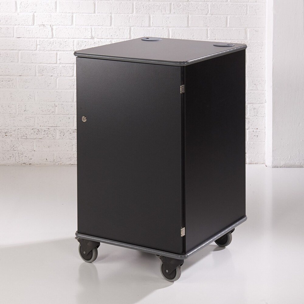 MM100 Coloured Mobile Multi-Media Cabinets - Black