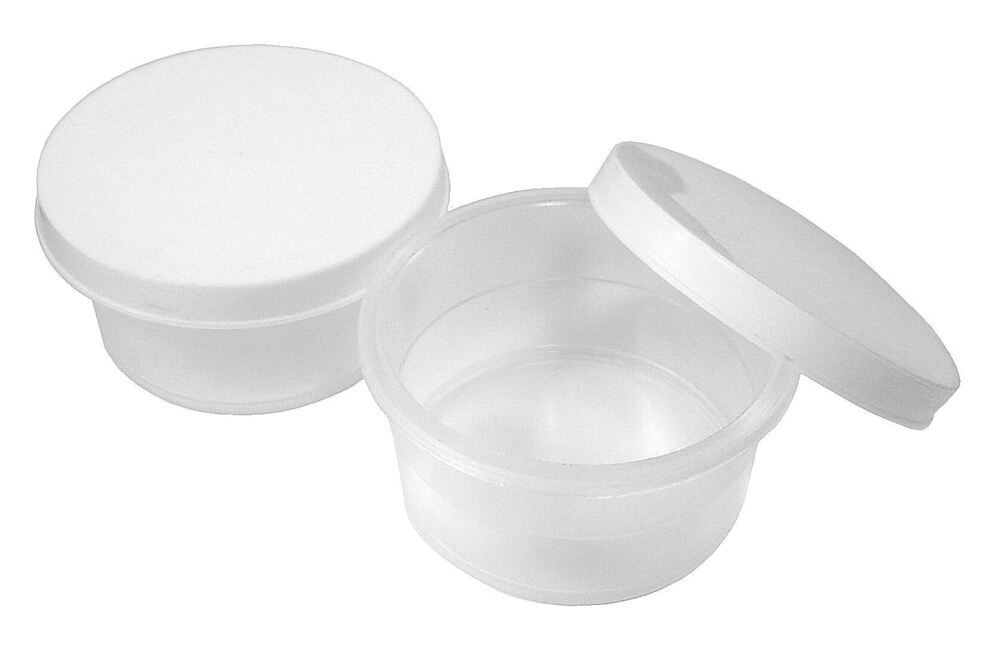 Mini Plastic Pots with lid Set