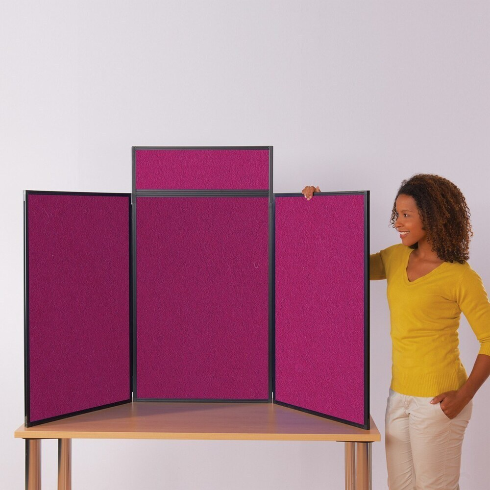 Maxi Busyfold Light Table Top Kit With Header & Carry Bag Magenta