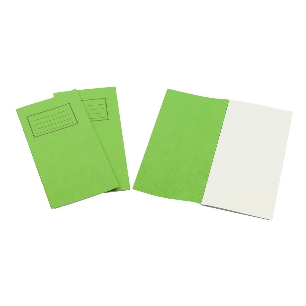Exercise Books 8 X 4 32 Page Blank Vivid Green
