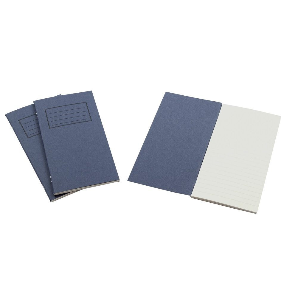 Exercise Books 8 X 4 80 Page 8mm Feint Dark Blue