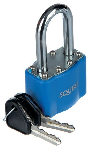 Long Shackle Keyed Diff Padlock Blue
