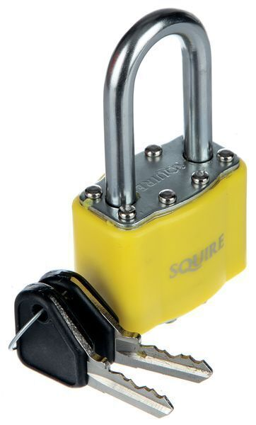 Long Shackle Keyed Diff Padlock Yellow