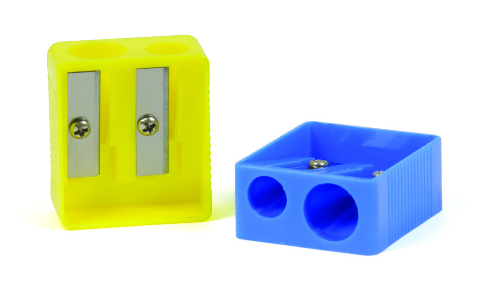 Pencil Sharpener Plastic Double Hole