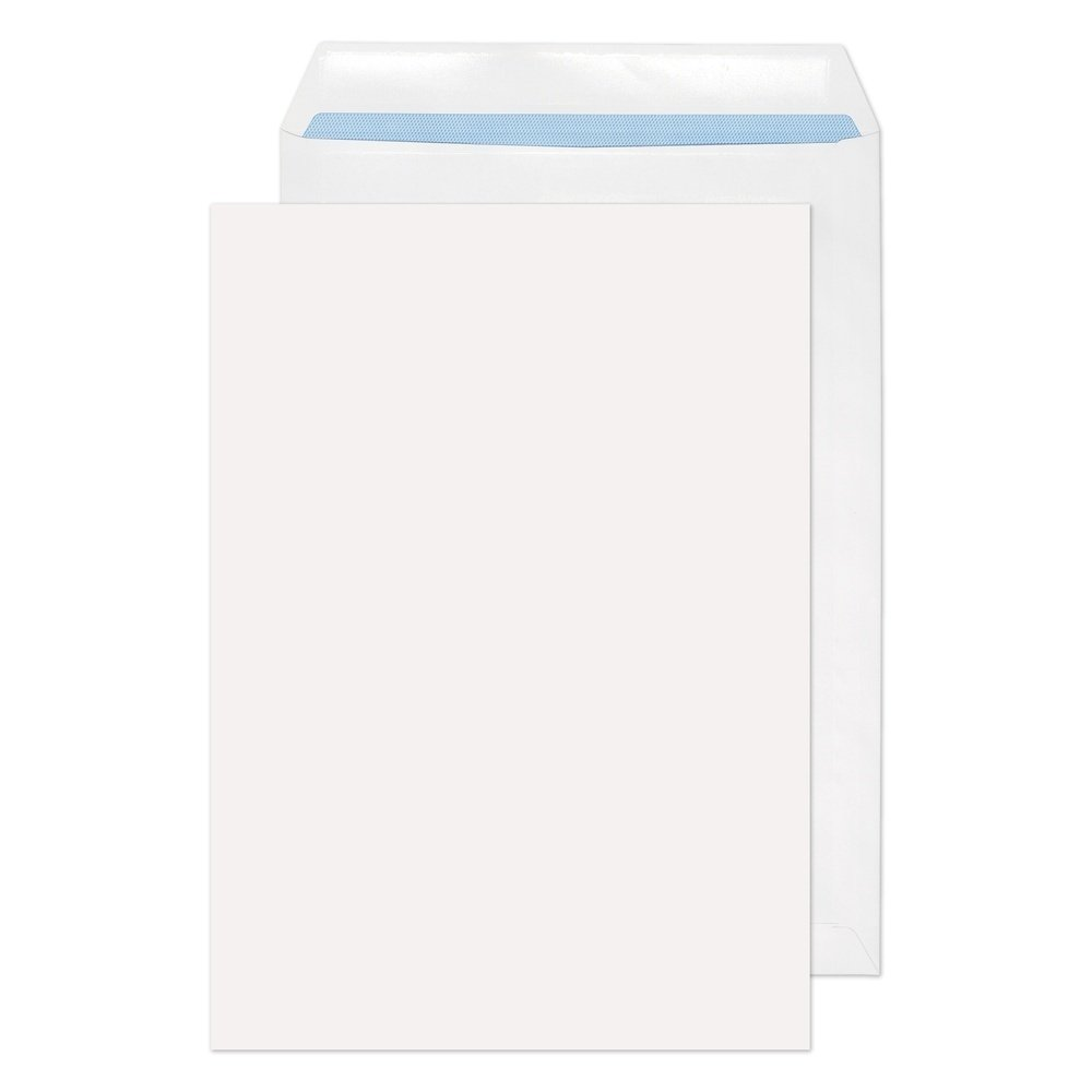 Recycled C4 Pocket Self Seal Non-Window Envelopes White 100gsm