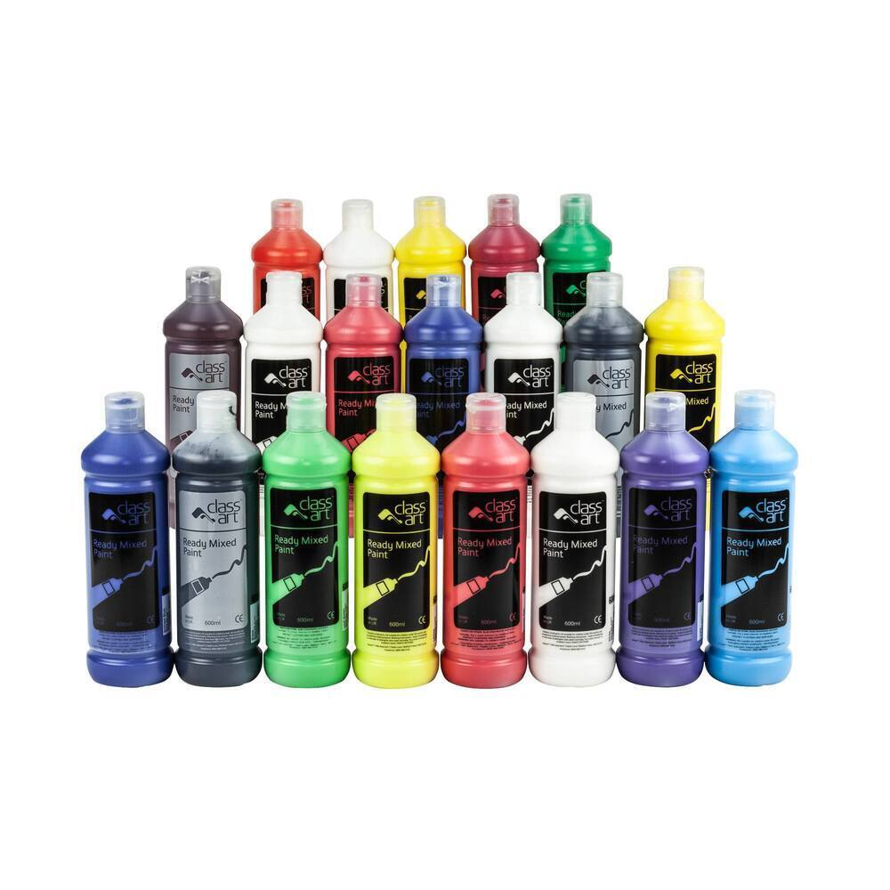 Class Art Ready Mix Paint 600ml Assorted