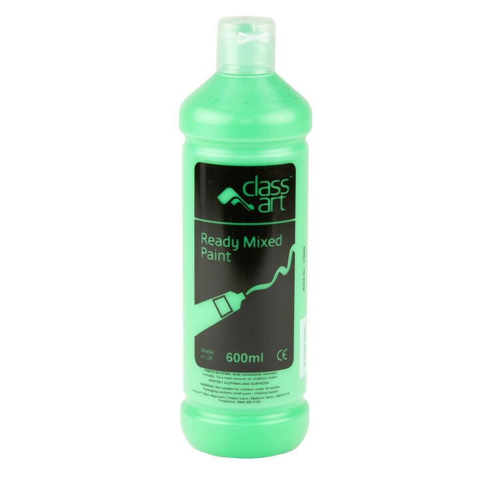 Classart Ready Mixed Paint 600ml Brilliant Green