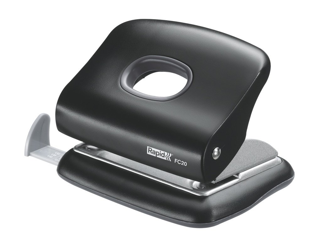 Rapid FC20 Two Hole Punch 20 Sheet Black