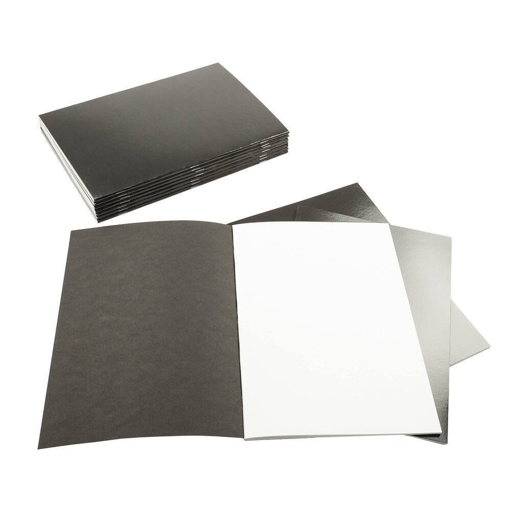 Creative A4 Sketchbook Laminated Portrait 140gsm 40 Page Black