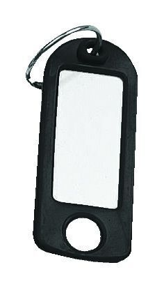 Key Tags with Hanging Hole Pk of 25 - Black