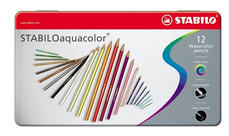 Stabilo Aquacolor, In Metal Tin Asst  ***WHILE STOCKS LAST***