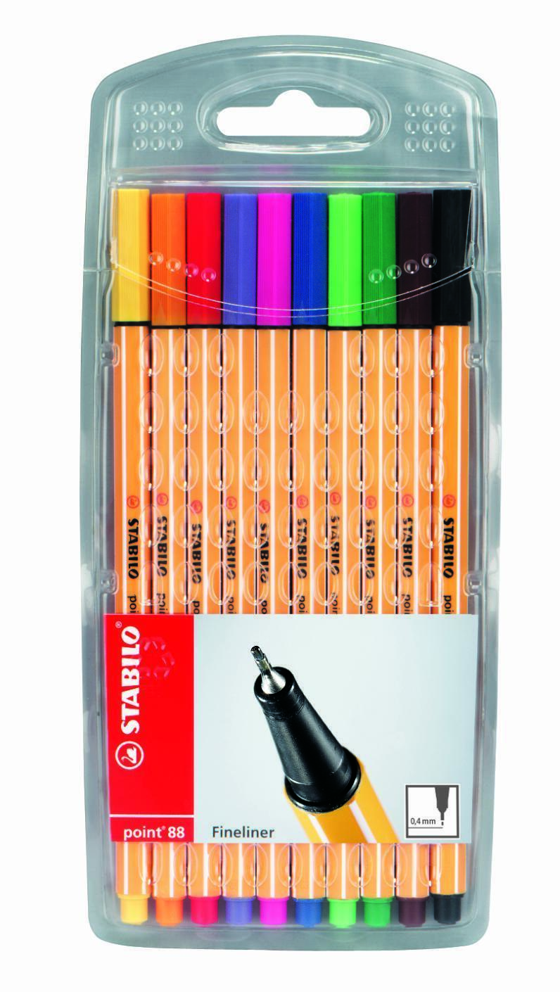 Stabilo Point 88 Fineliner Assorted