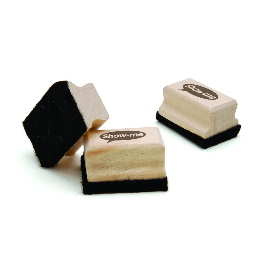 Show-Me Wooden Handled Whiteboard Erasers Small