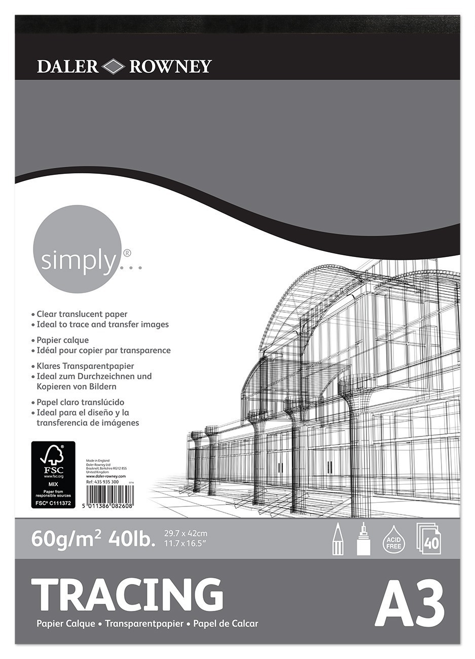 Darler-Rowney Tracing Pad A3 60gsm