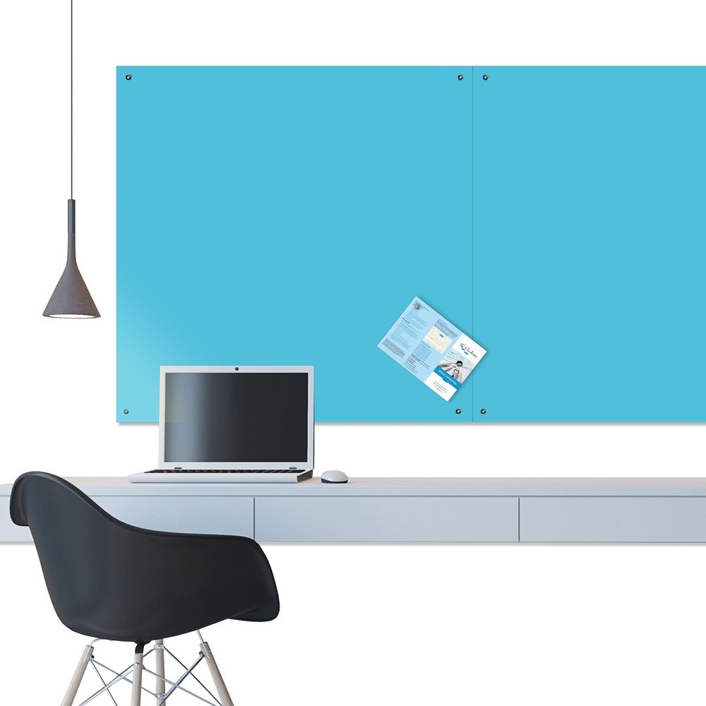 ColourPlus Unframed Felt Noticeboard - 1200 x 1500mm - Cyan