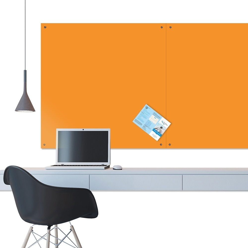 ColourPlus Unframed Felt Noticeboard - 1200 x 1500mm - Orange