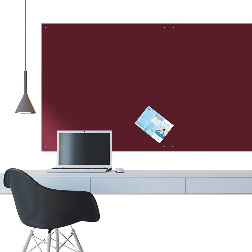 Unframed Felt Noticeboard 2400 X 1200mm Burgundy