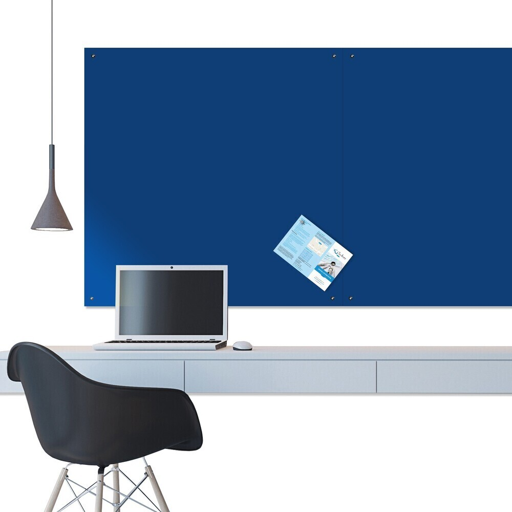 Unframed Felt Noticeboard 2400X1200mm Blue