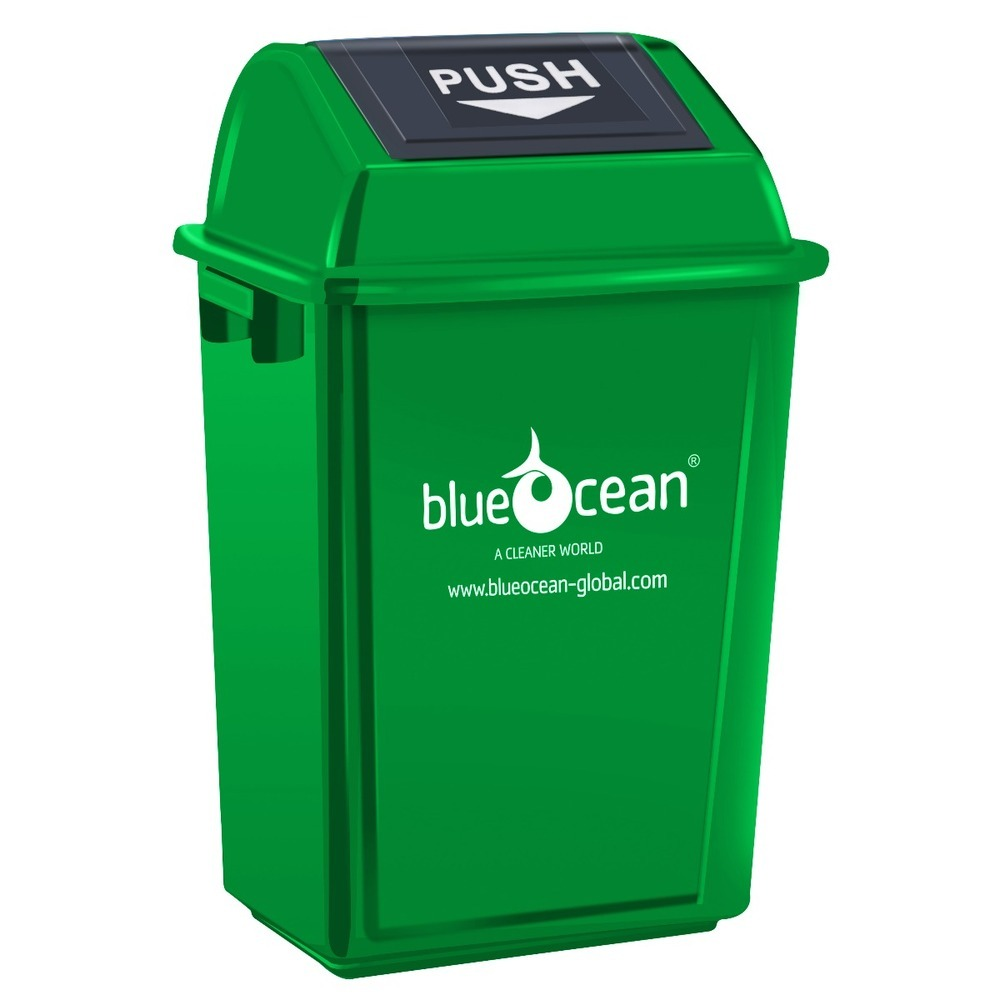BlueOcean Fliptop Bin 60 Litre Green