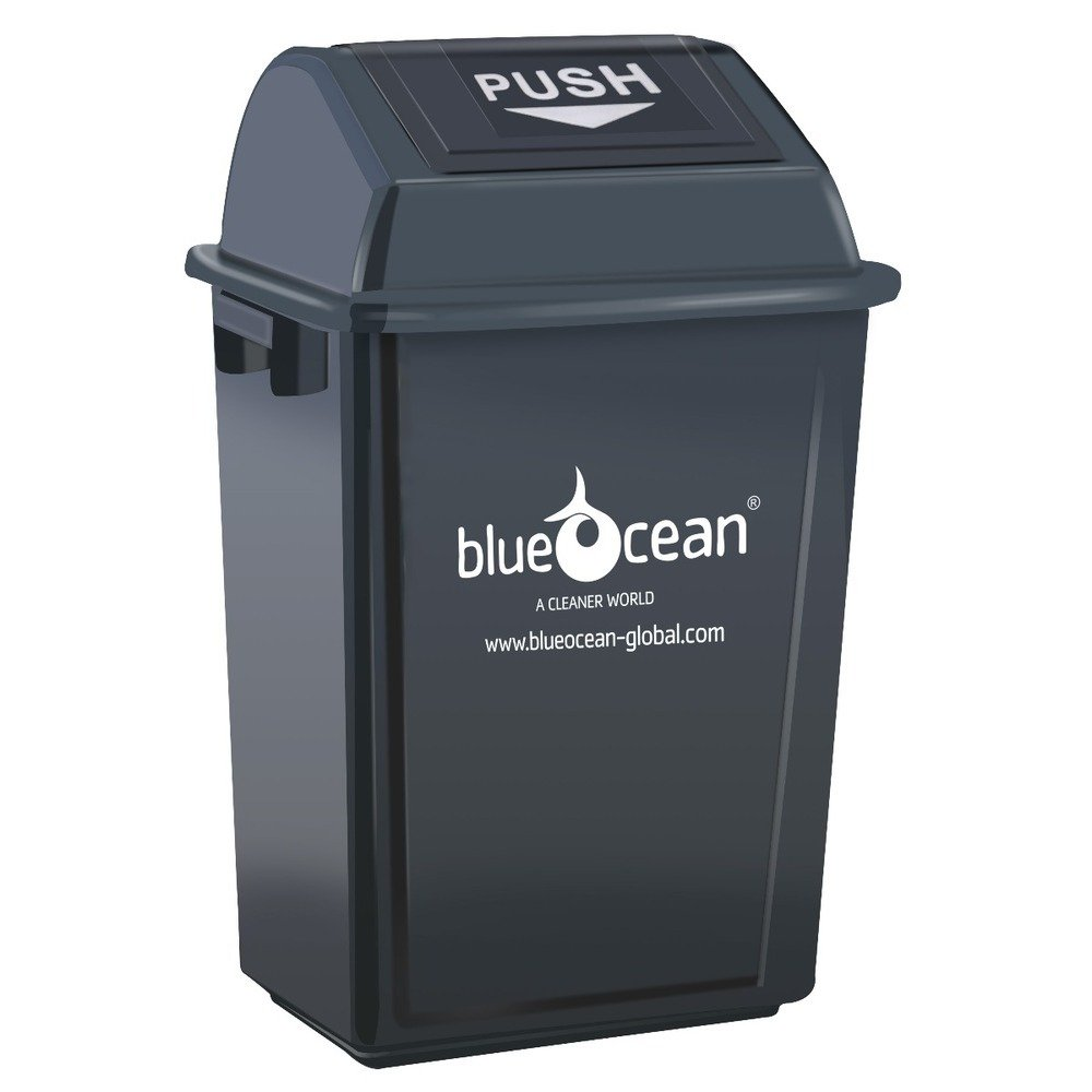 BlueOcean Fliptop Bin 60 Litre Grey