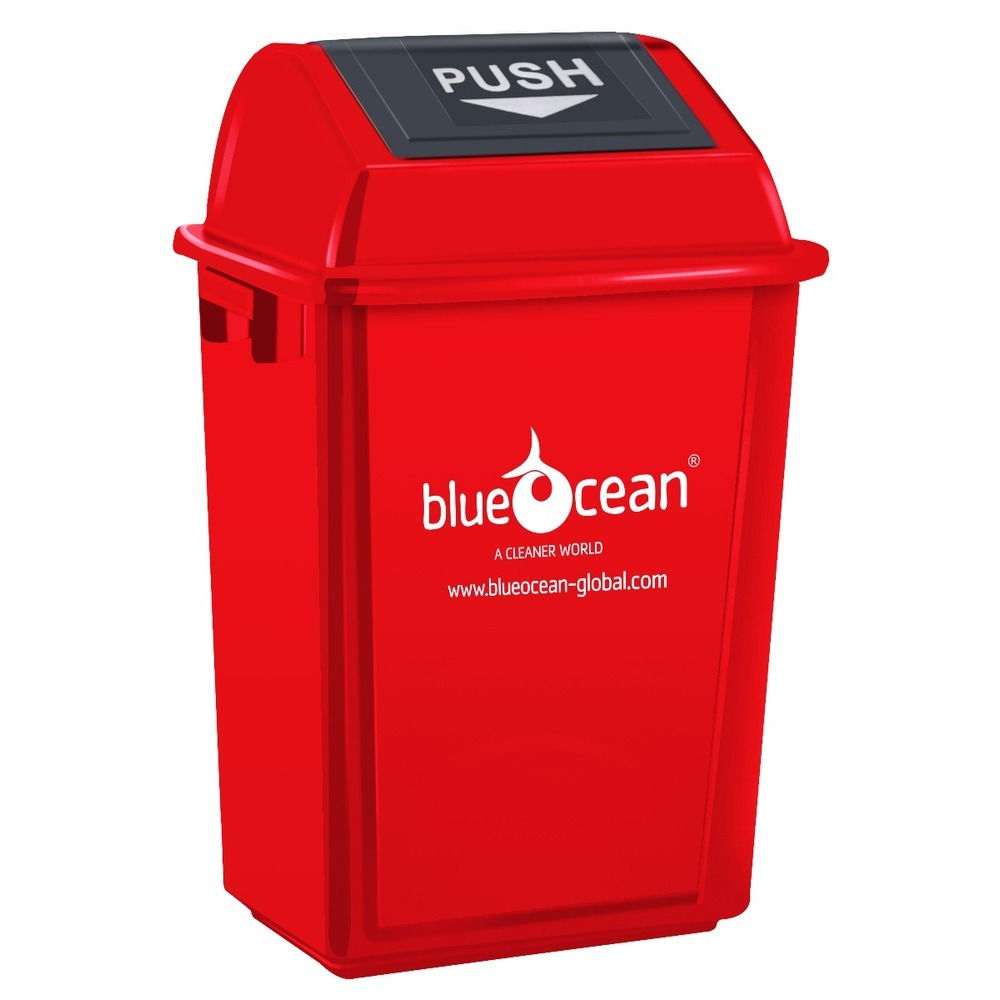 BlueOcean Fliptop Bin 60 Litre Red