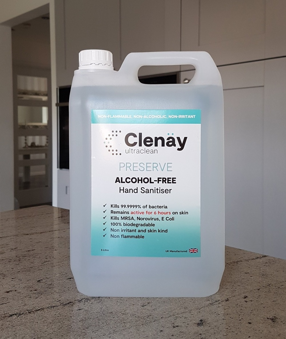 Clenay Ultraclean Preserve Alcohol Free Hand Sanitiser 5 Litre
