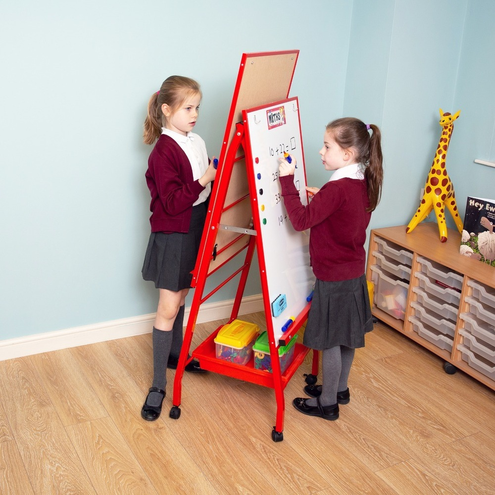 Double Boarded Mobile Easel Portrait Style Red