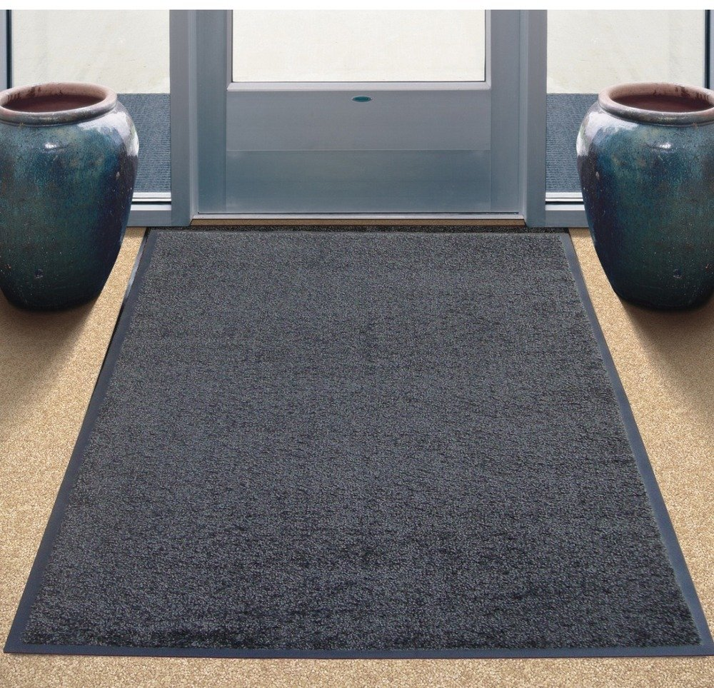 Tri-Grip Floor Mat 890 X 1190mm Gripper Backed Charcoal