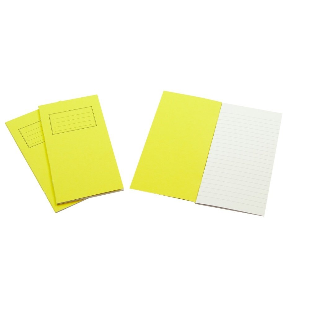 Exercise Books 8 X 4 32 Page 8mm Feint Vivid Yellow